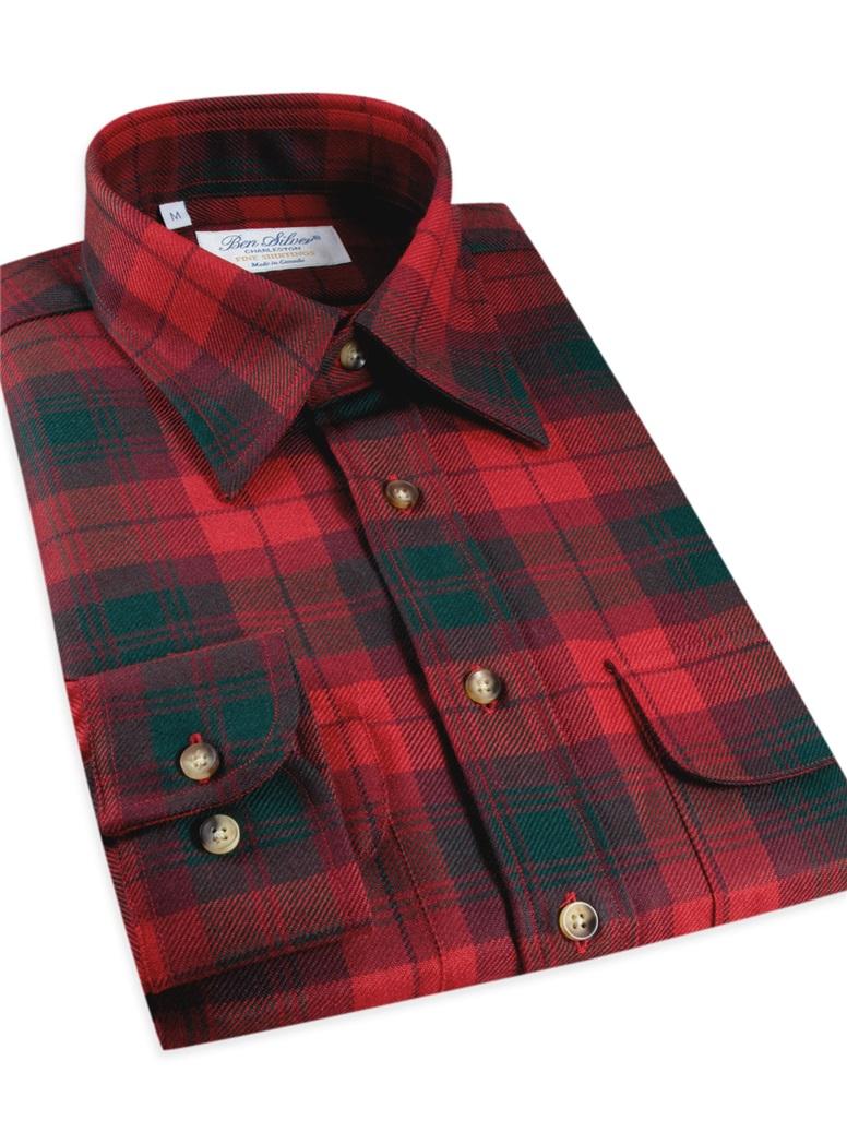 Wool Tartan Overshirt in Modern McNab