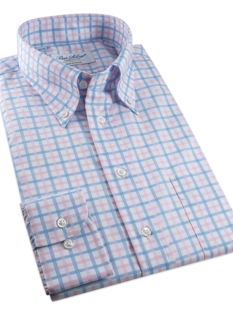 Pink and Blue Tattersall Button Down