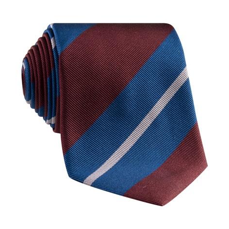 Silk Multi-Stripe Tie in Ocean