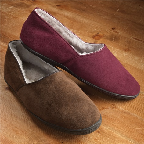 The Trevor Suede Slippers with Non-Slip Soles