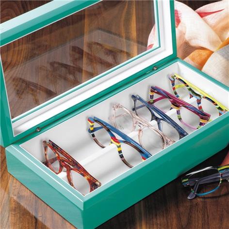 Large Eyewear Chest in Aqua