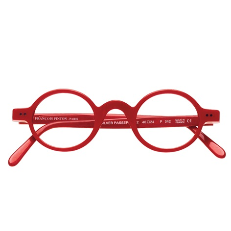 Archival Round Frame in Red