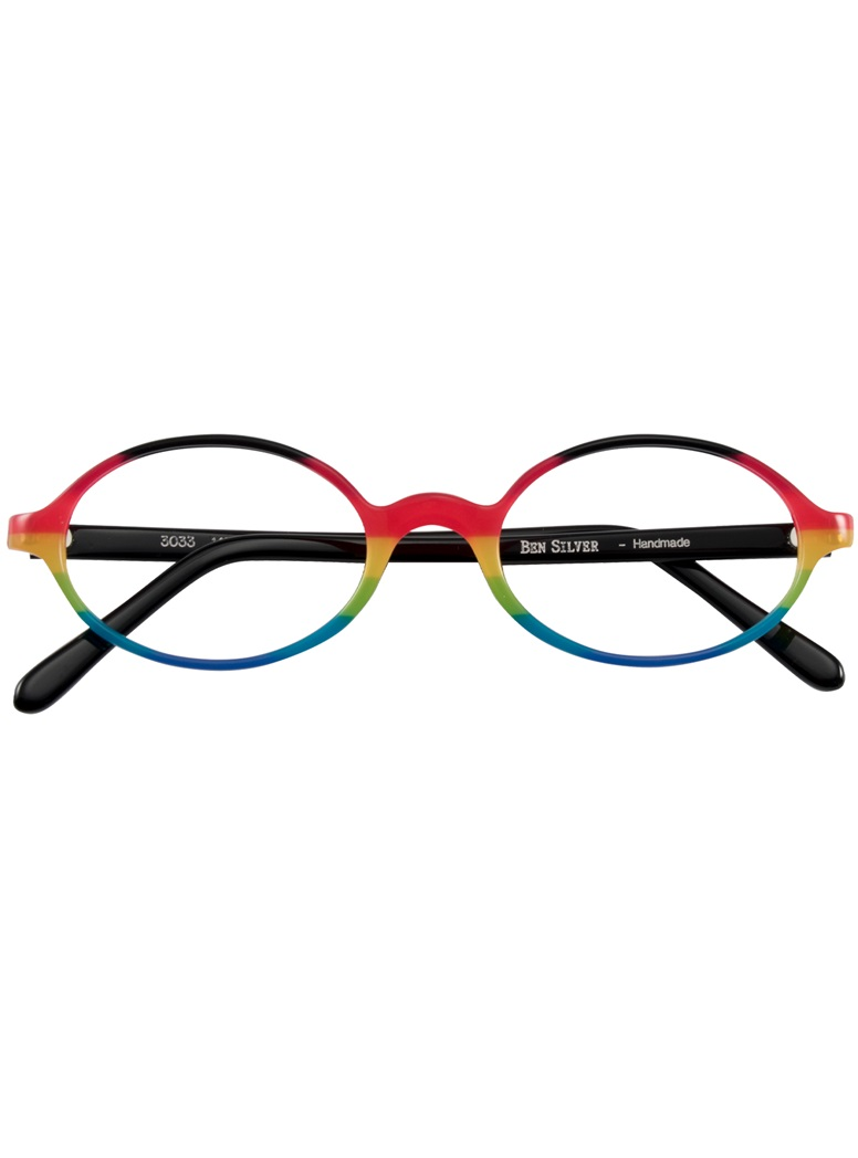 Multi-Colored Handmade Frame in Black, Pink and Yellow