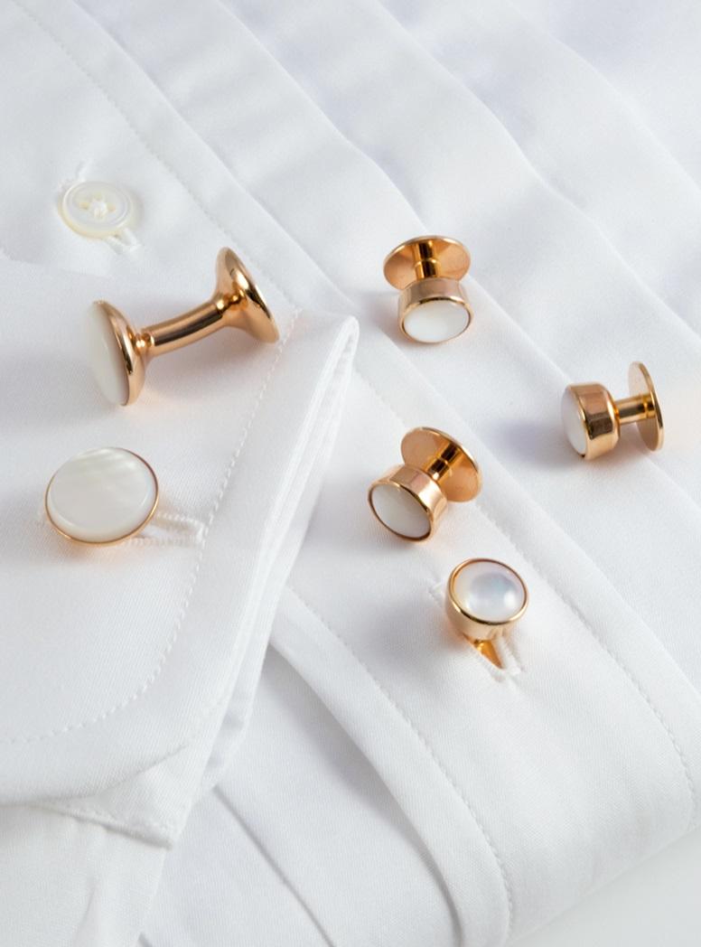 Rose Gold Mother of Pearl Formal Wear Set