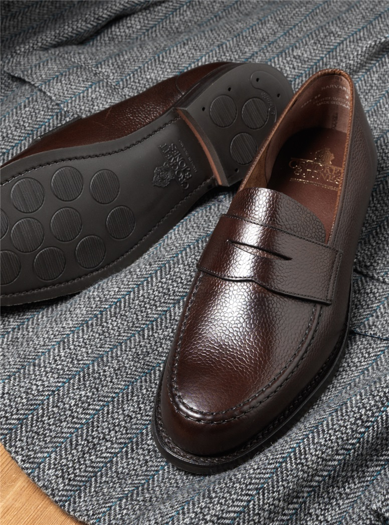 The Harvard Loafer in Dark Brown Country Grain Leather with City Soles