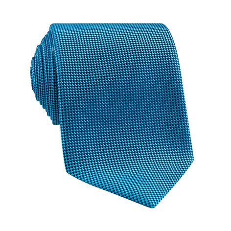 Silk Basketweave Tie in Teal