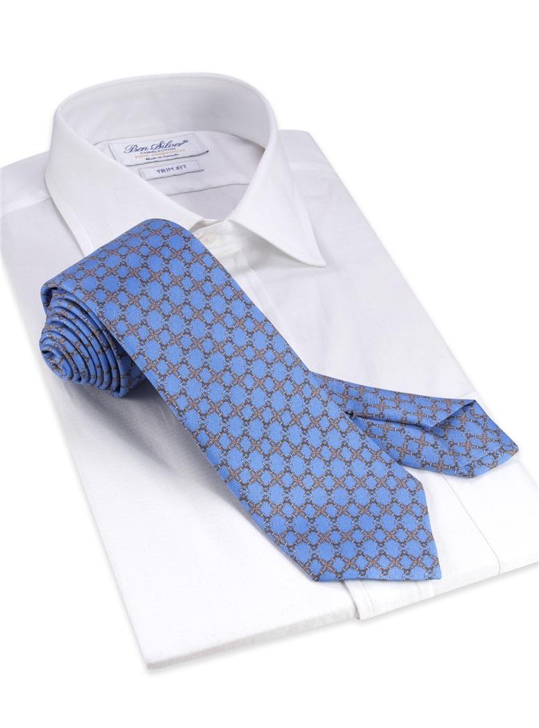 Silk printed Tie in Sky