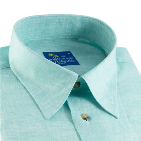 Green Charleston Linen Shirt