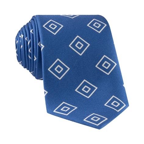 Silk Diamond Printed Tie in Royal Blue