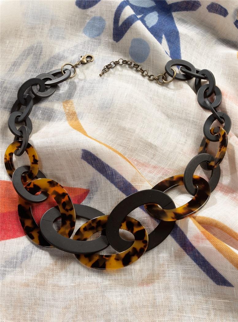 Graduated Link Tortoise Necklace
