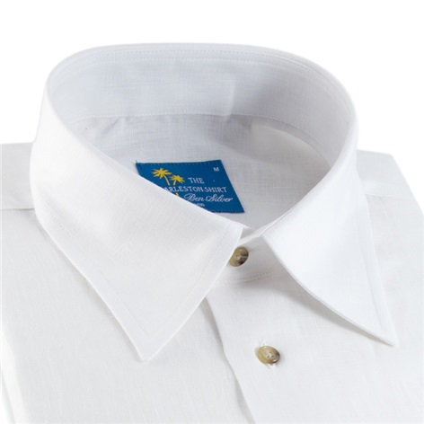 White Charleston Linen Shirt