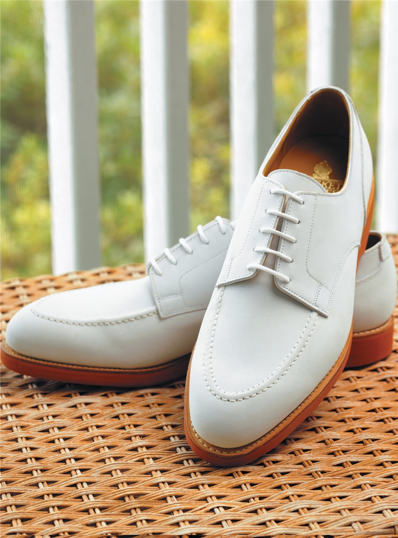 The Onslow Blucher in White Buck