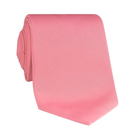 Silk Signature Solid Tie in Rose