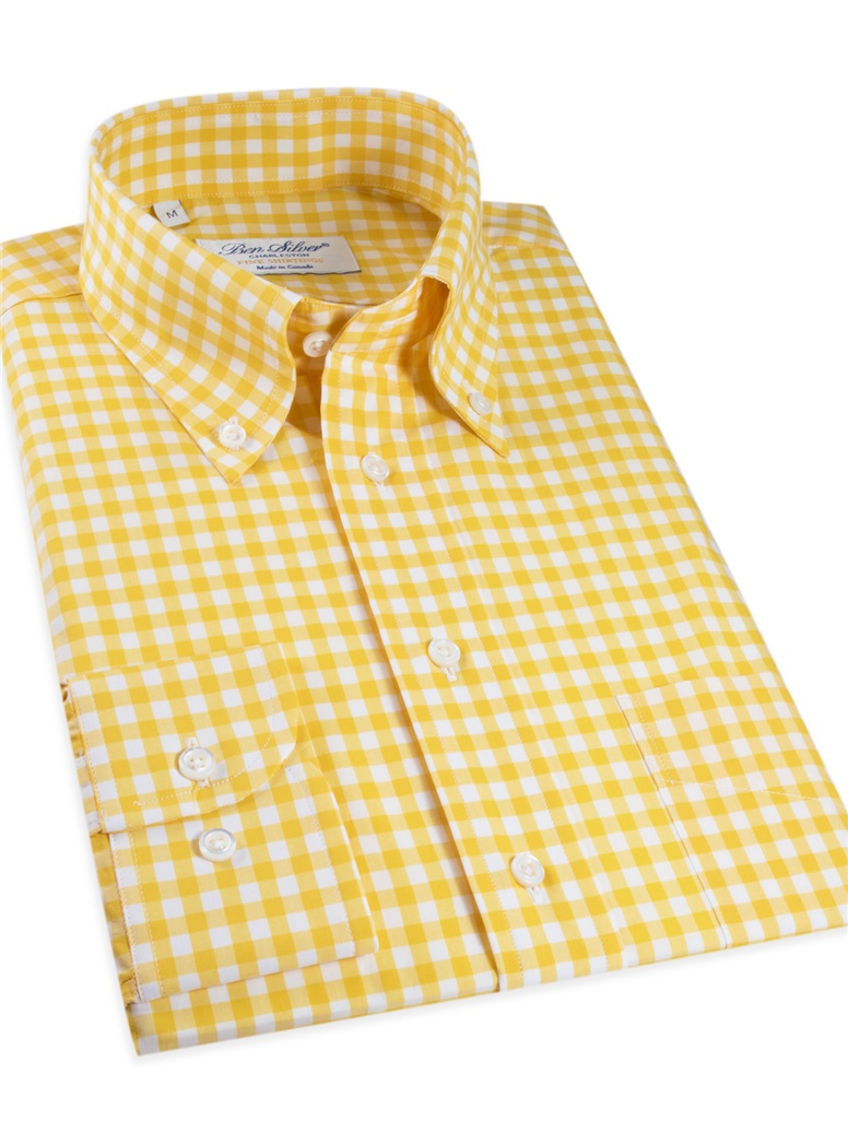 Yellow Gingham Shirt