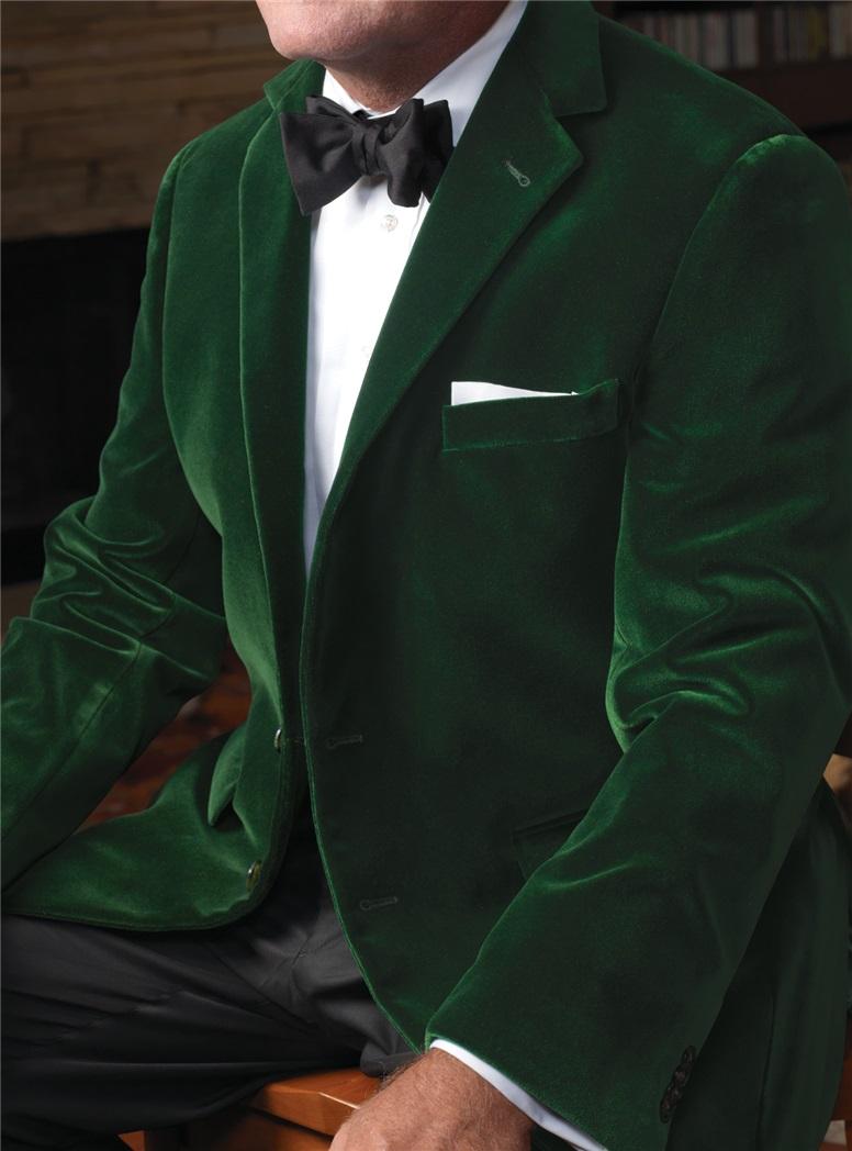 Green Velvet Dinner Jacket The Ben Silver Collection