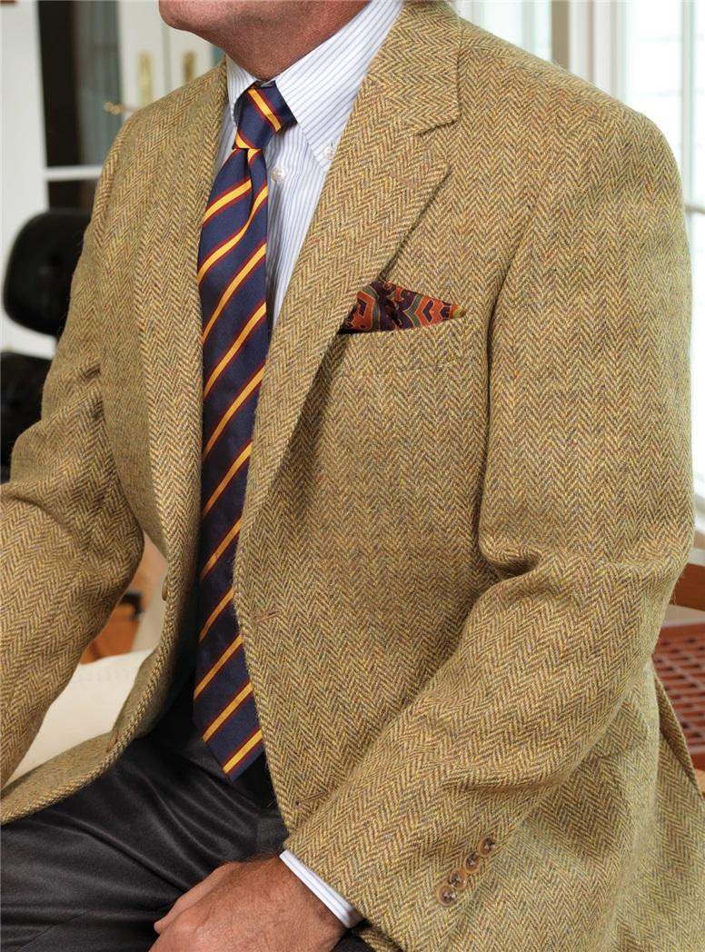 Gold and Cinnamon Harris Tweed Wool Jacket