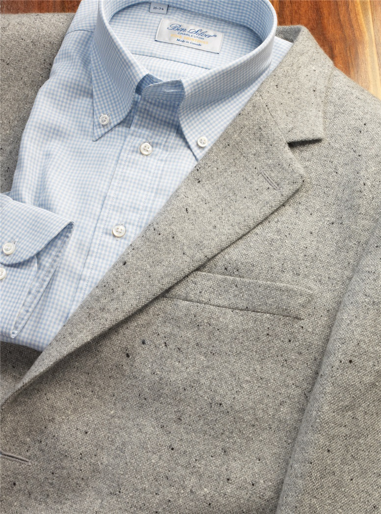 Cashmere Grey Donegal Jacket