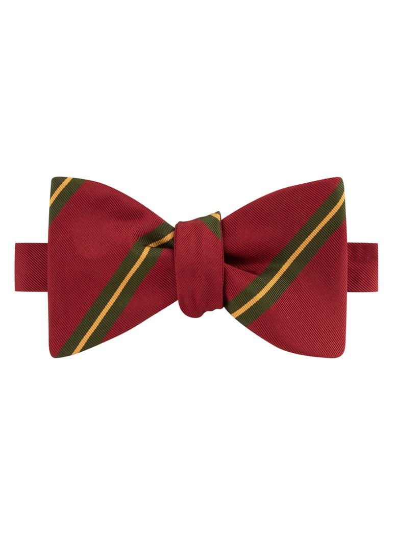 Mogador Striped Bow Tie in Cranberry