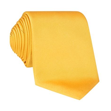 Silk Solid Signature Tie in Sun