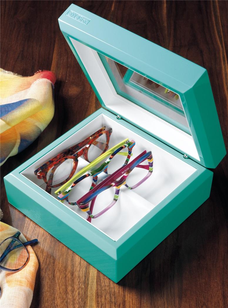 Smaller Eyewear Chest in Aqua