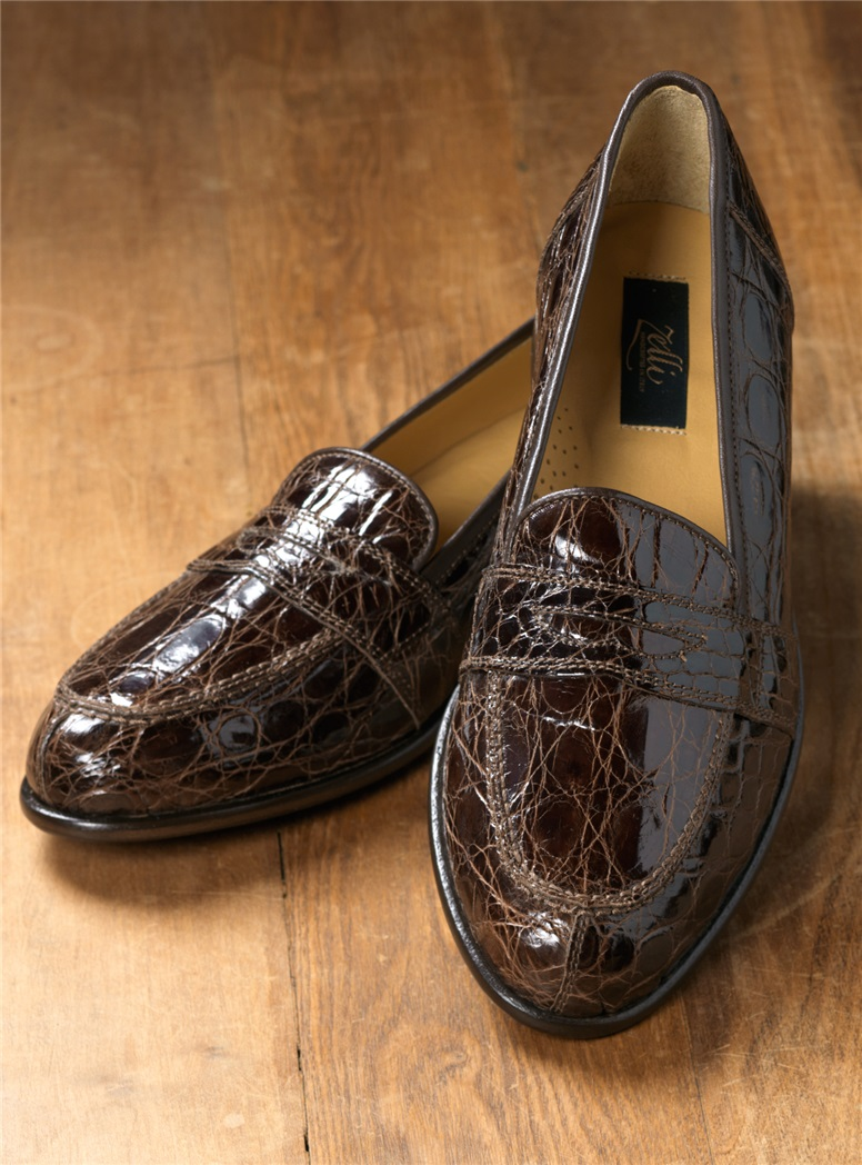 The Crocodile Loafer in Dark Brown