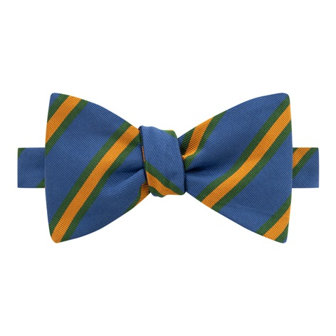 Mogador Striped Bow Tie in Marine