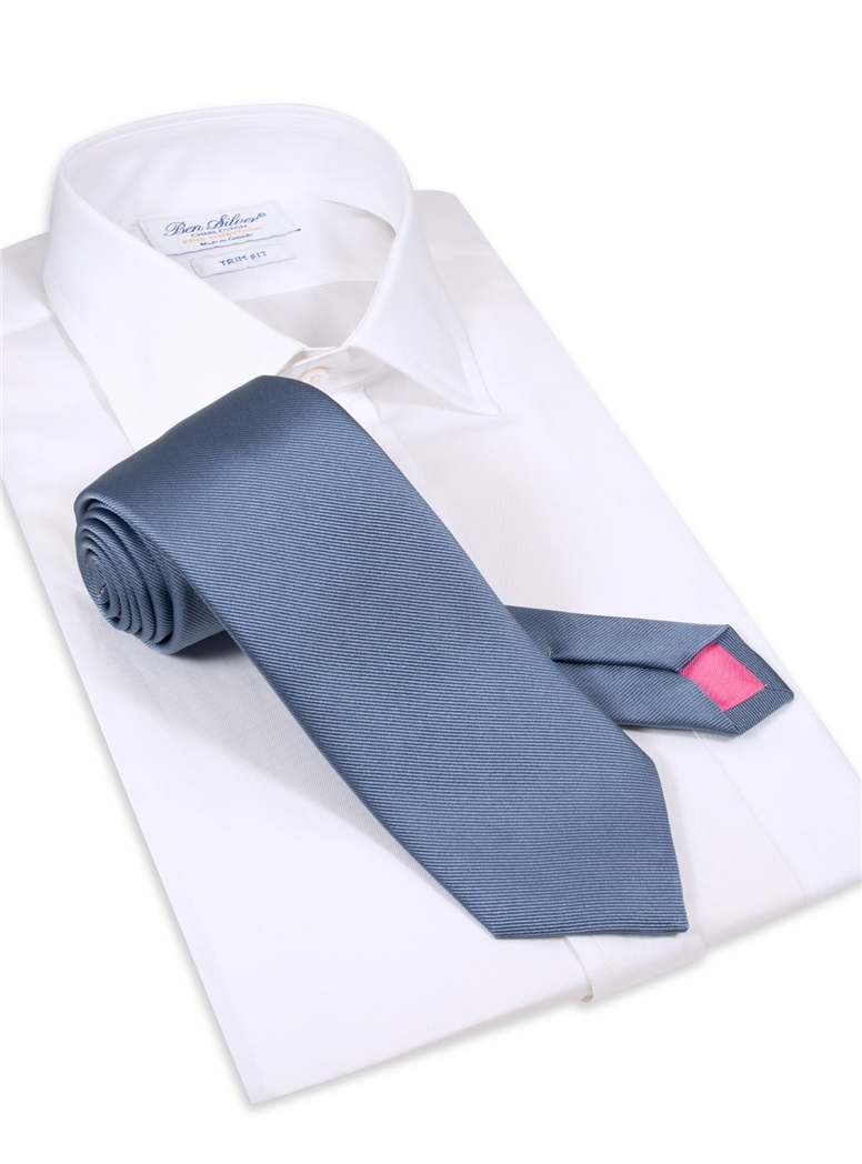 Silk Signature Solid Tie in Cornflower