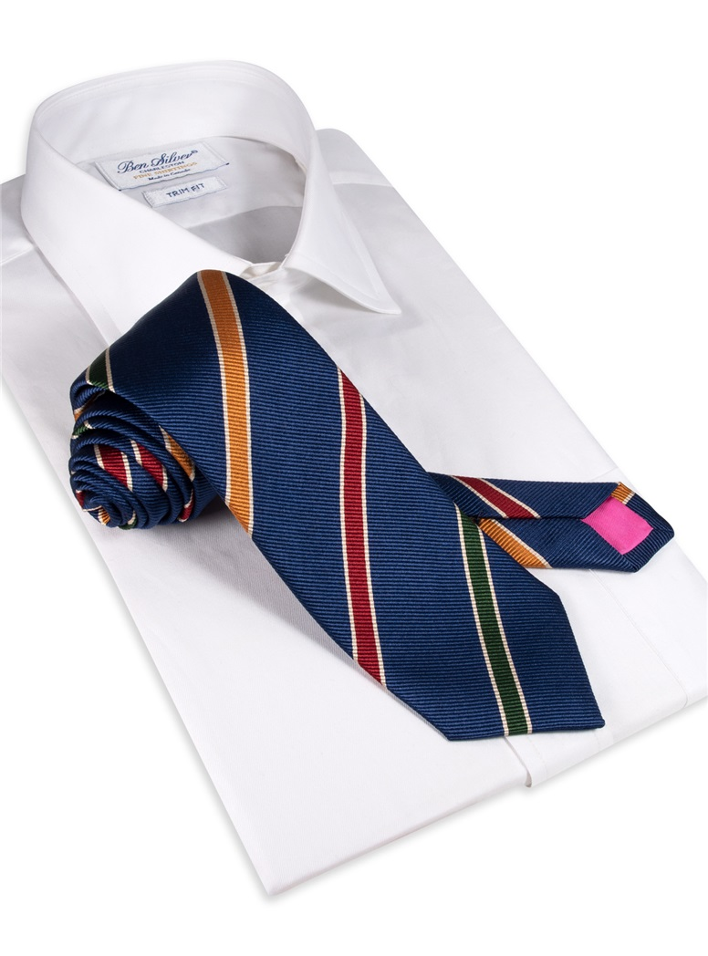 Mogador Striped Tie in Royal Blue