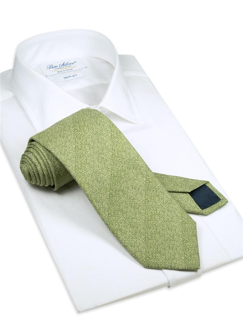 Silk Woven Tie in Sage