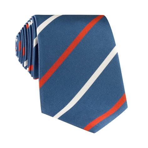 Mogador Double Striped Tie in Marine