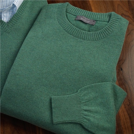 Cashmere Crewneck Sweater in Hunter