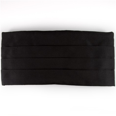 Faille Cummerbund Black