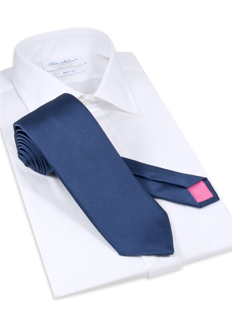 Silk Signature Solid Tie in Royal Blue