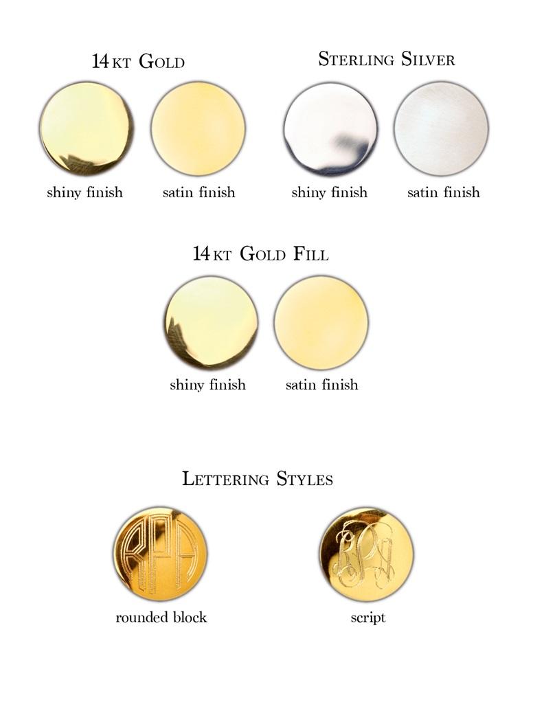 Monogram Blazer Buttons