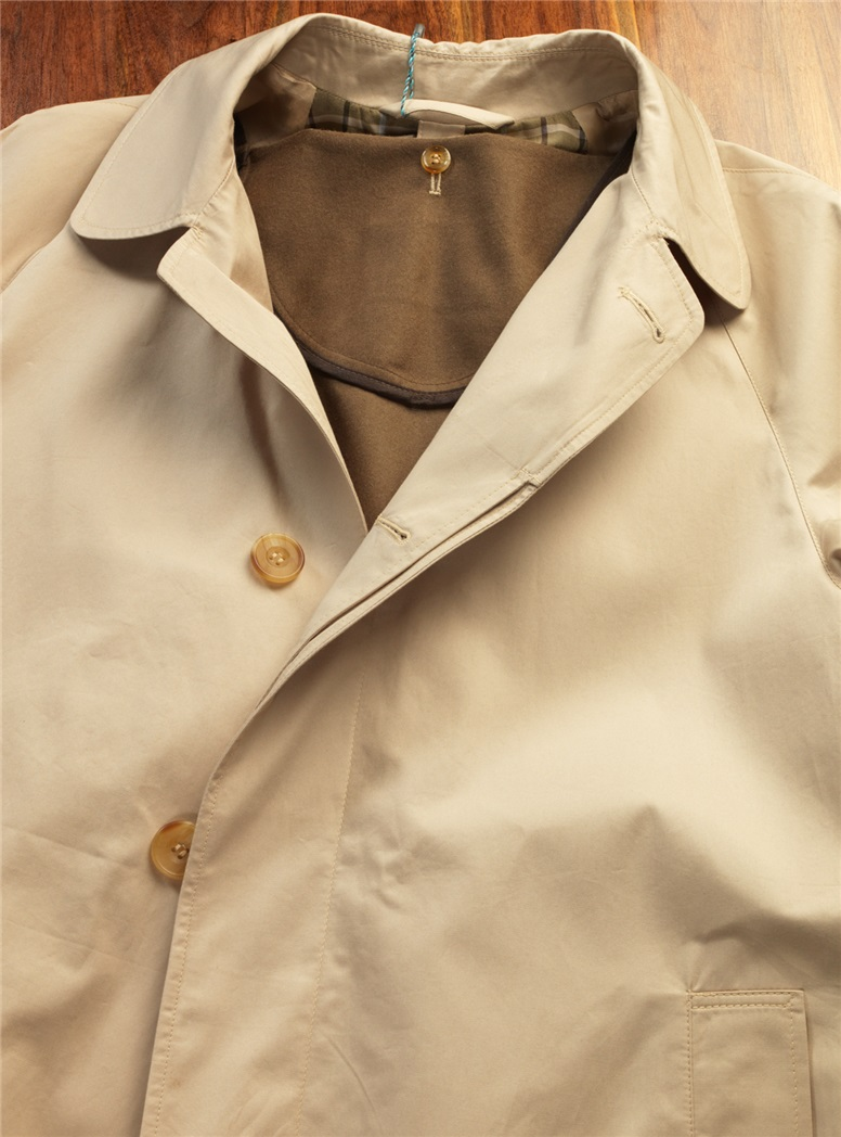 Cotton Khaki Top Coat