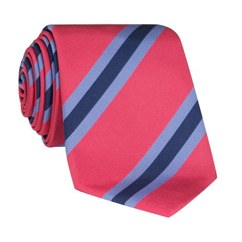 Silk Stripe Tie in Azalea