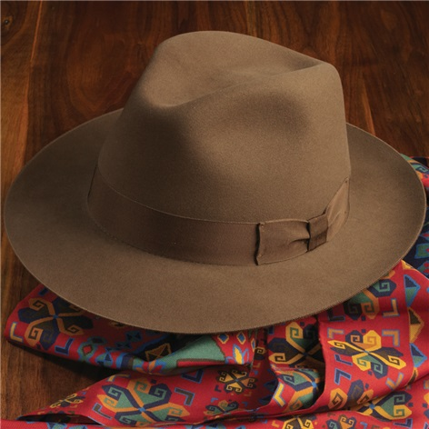 Lock Fairbanks Beaver Fedora in Mocha