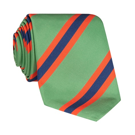 Silk Stripe Tie in Mint