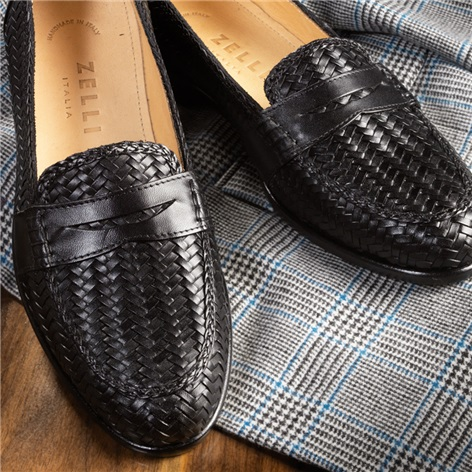 The Woven Loafer in Black