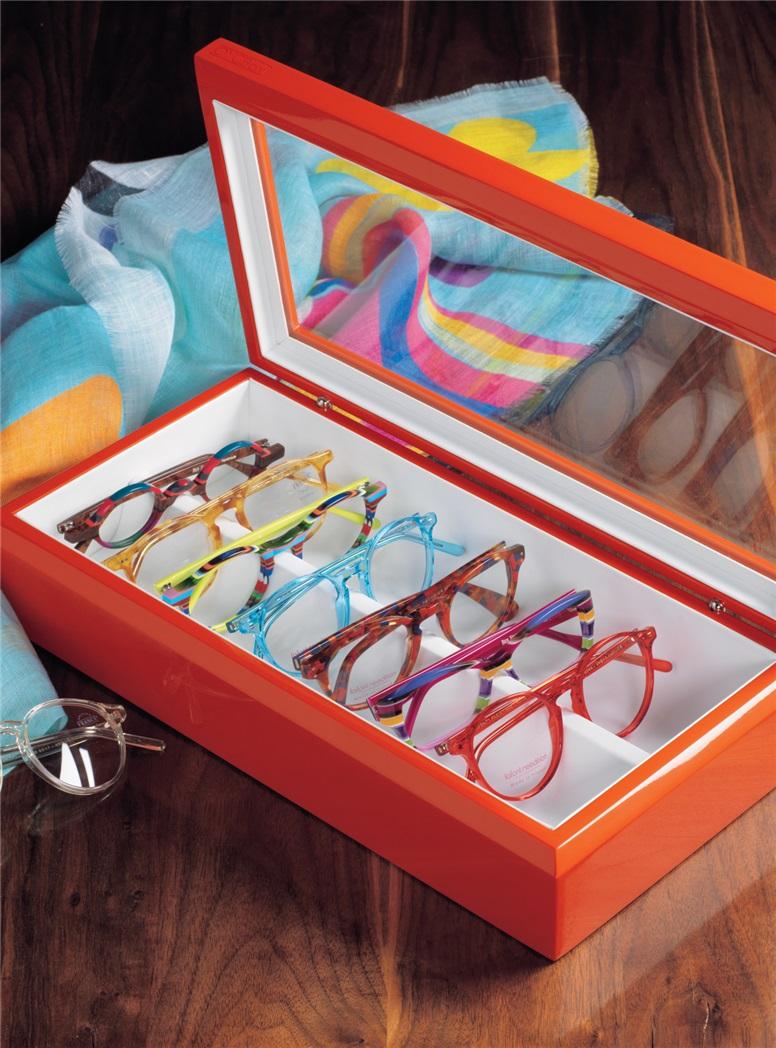 Large Eyewear Chest in Orange
