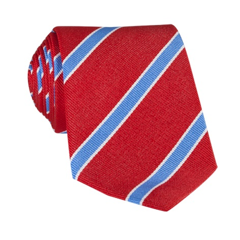 Silk Striped Tie in Fire