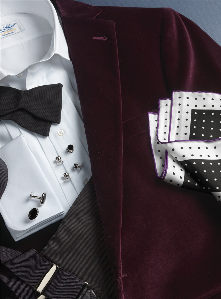 Black & White Spot Pocket Square