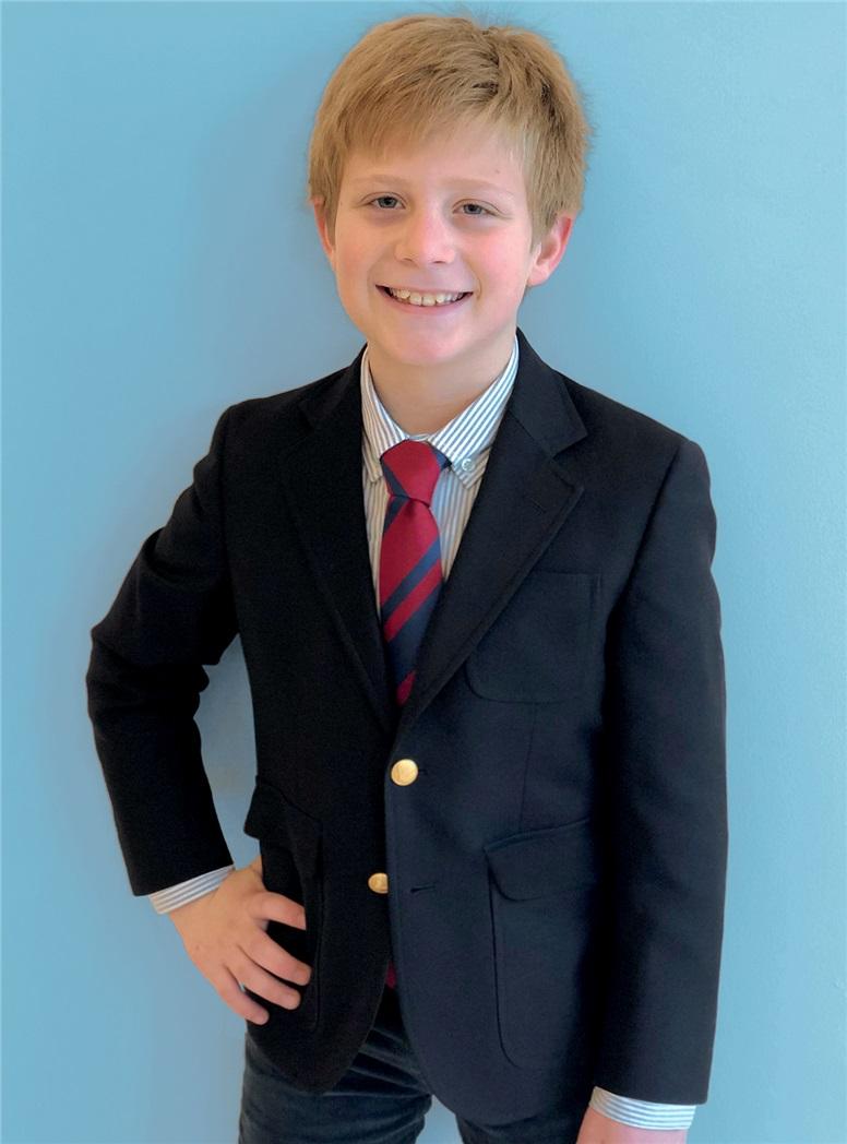 Boy's Navy Wool Blazer
