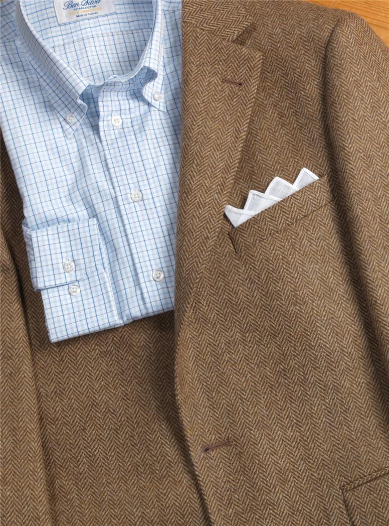 Brown and Tan Herringbone Jacket