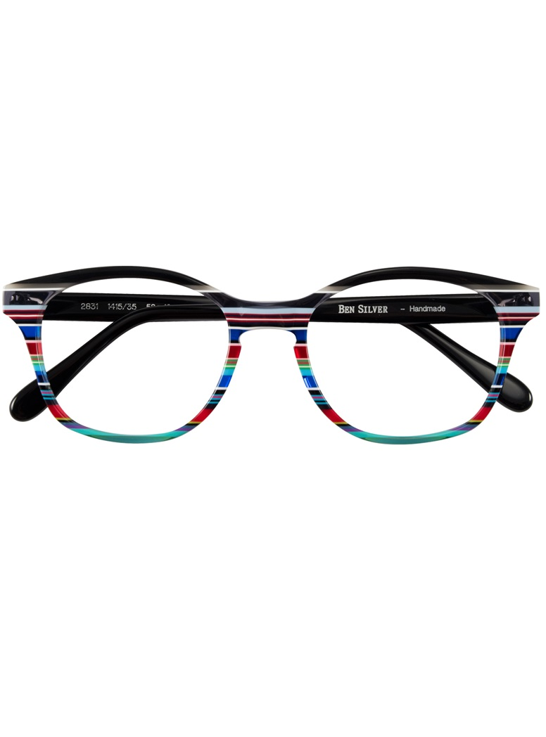 Multi-Colored Handmade Frame in Black, Grey, and Fire Red