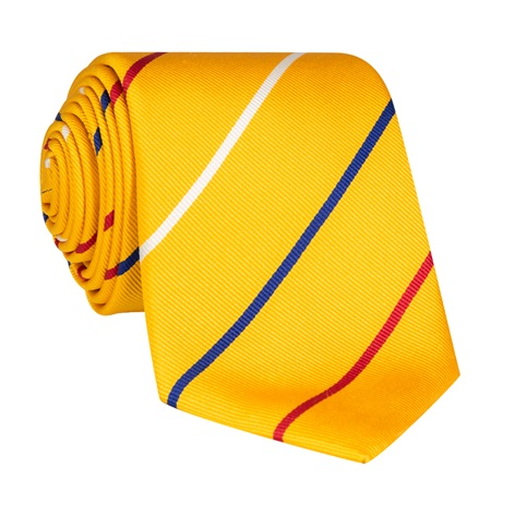 Silk Triple Stripe Tie in Sun