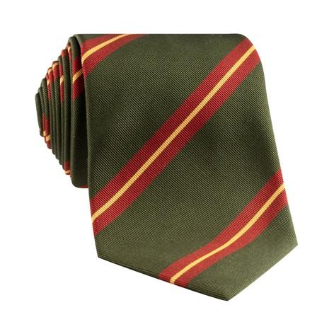 Mogador Silk Striped Tie in Fern