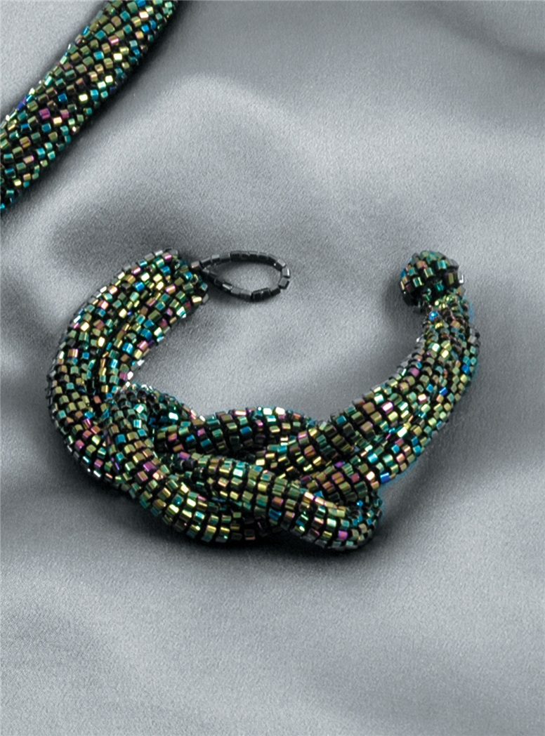 Scarab Green Knot Bracelet