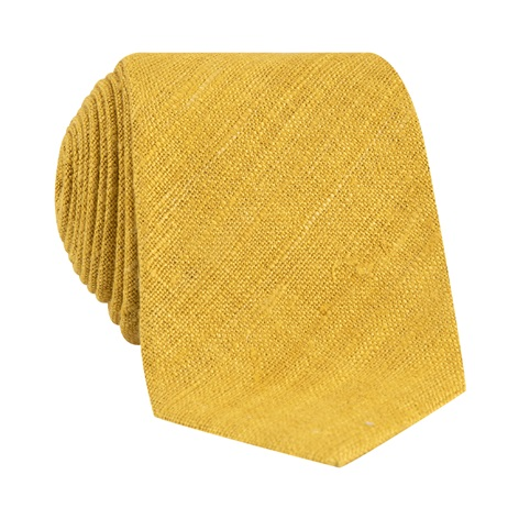 Silk Shantung Tie in Gold