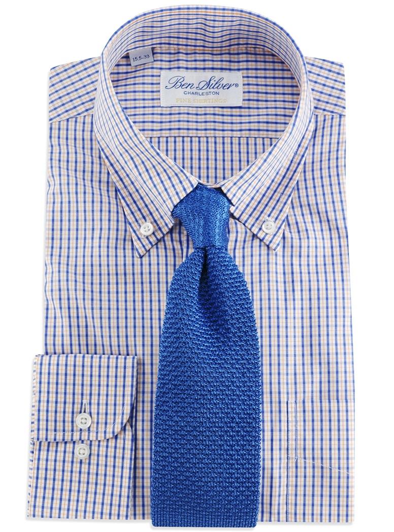 Classic Silk Knit Tie in Cobalt